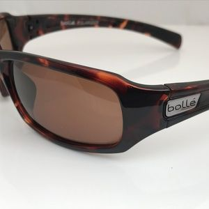 Bolle Women Polarized Sunglasses Brown Plastic